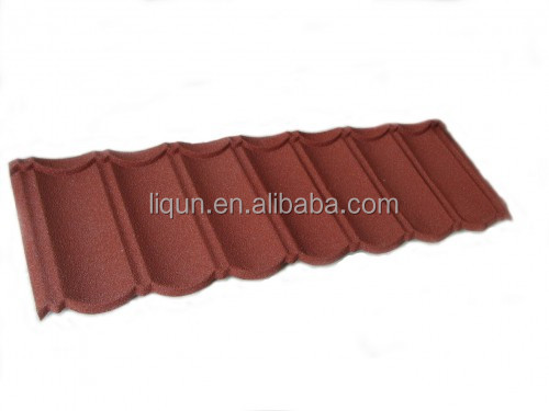 China tile stone light weight natural steel stone texture tile corrugated metal roofing tile