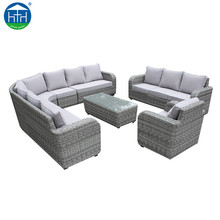 DW-SF111 Outdoor Rattan Furniture Corner Sofa Set Lounge