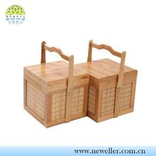 Single unfinished wine kitchen storage boxes with clear lid