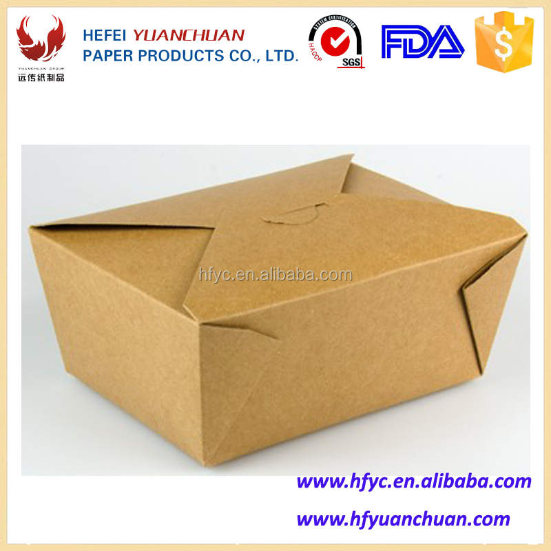 Disposable takeaway delivery custom food packaging container