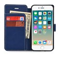 Ultra-thin PU leather tpu cover stand case with card slots for iphone 7 plus