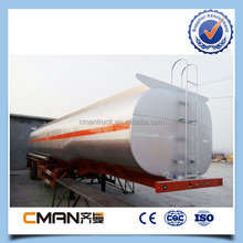 China 30Ton 12wheel Stainless 45000 liter 3-axle fuel tank trailer