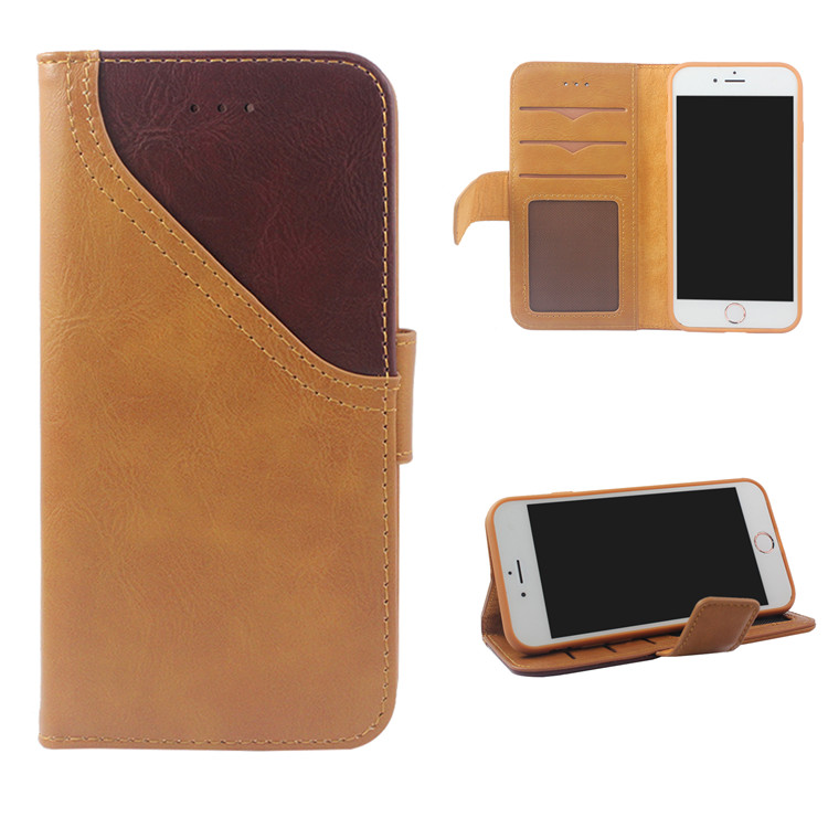 custom oem card holder stand wallet leather folio case for iphone 5 6 7 8 plus x