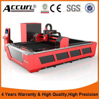 steel square pipe round tube fiber laser cutter with 3 years warranty