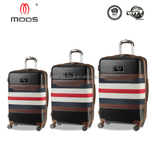 ABS+PC+Polyester Stock Cheap Hybrid recycled travel suitcase