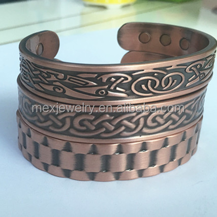 Wholesale Pure Copper Magnetic Bracelets for Arthritis Mens