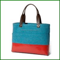 2016 LATEST Design Wool Felt Shoulder Shopping Woman Bag