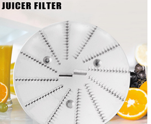 Stainless steel juicer parts filter blade
