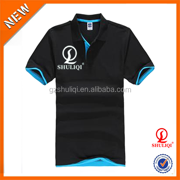 colors sleeves with printing unisex t shirts add your owm logo /good qulity polo-neck embroidered or printing t shirts H-1632