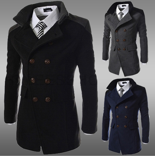 H30026C winter coats double breasted long coat elegant wool trench coat