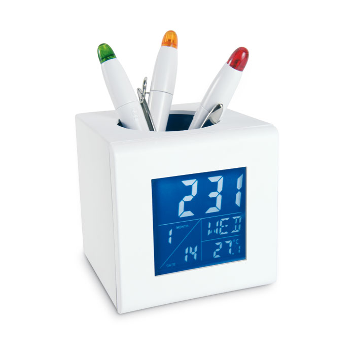 digital led battery table clock pp diy pen holder with dartboard 2016