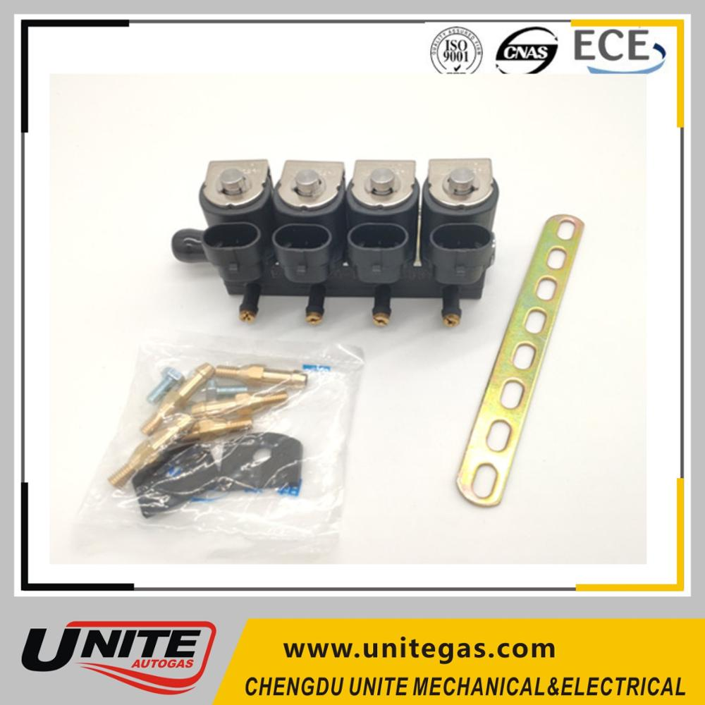 fuel gas rails/4 cyl injector/lpg cng rails rail injectors for cng lpg conversion