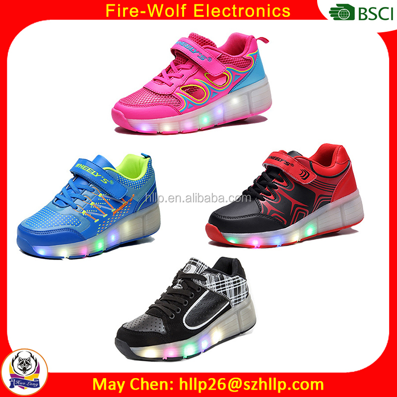 Supply good quality wheeys shoes kids roller shoes with lights