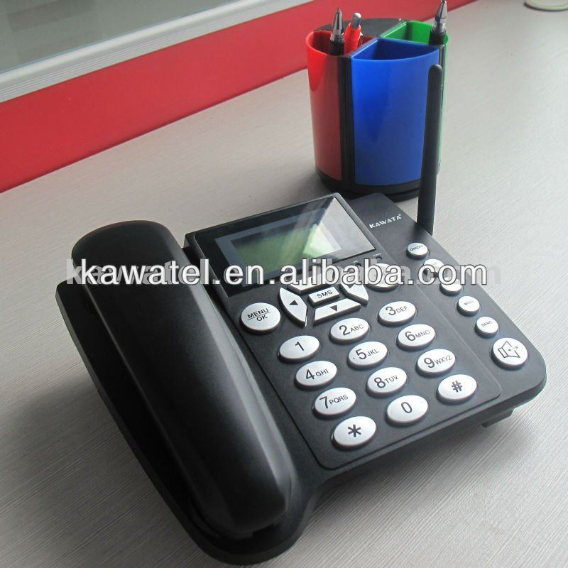 wireless big buttom telephone with sim card for European market