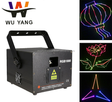 Wuyang RGB laser light show system disco laser 8 watt multicolor dj guangzhou stage light