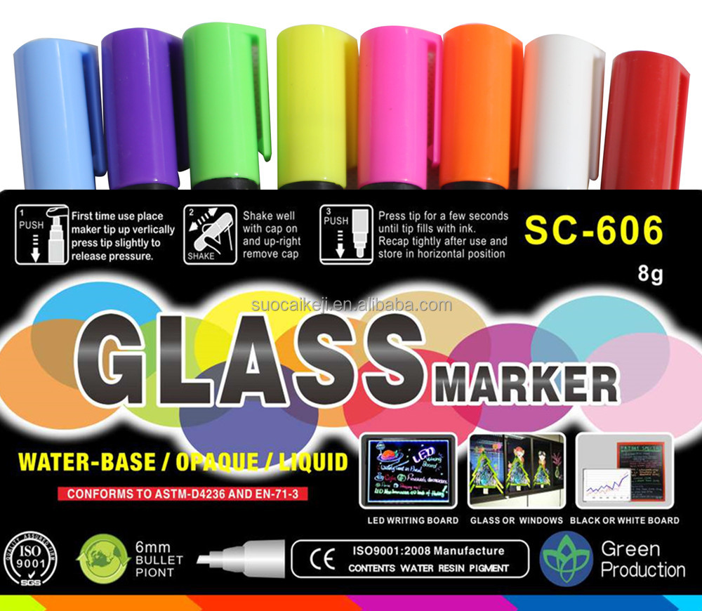 Whiteboard chalk markers 10 pack/ inflatable marker buoy