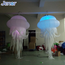 LED Hanging Inflatable Jellyfish Light Balloon for Stage Decorative