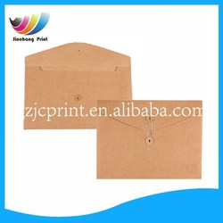 brown kraft paper string tie closure document bag envelope