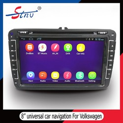 8 Inch 2 Din In Car Navigation For Volkswagen With Car DVD/OBD/Radio