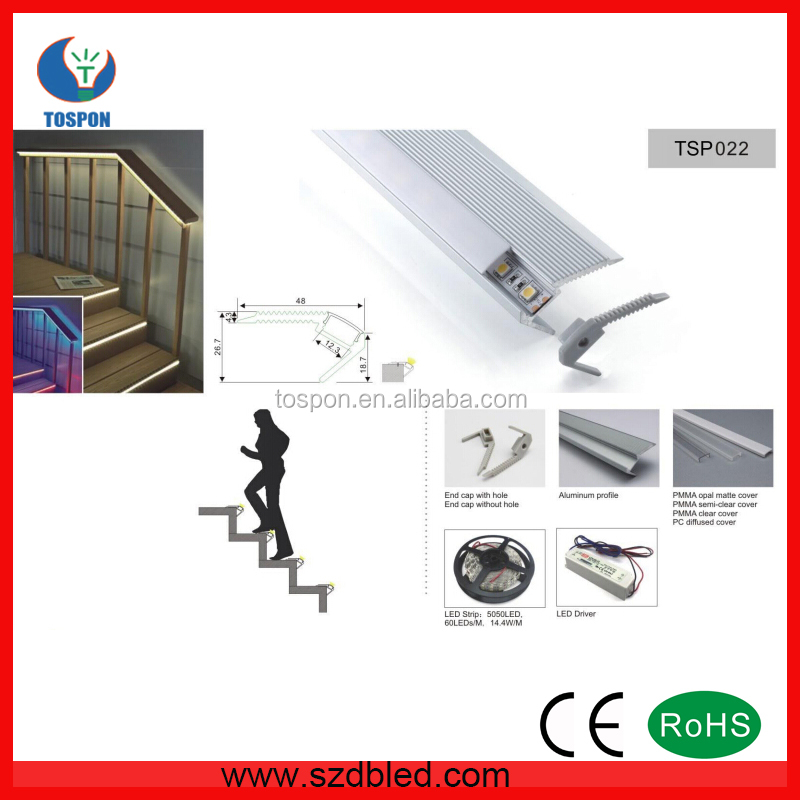 TSP024 stair step light LED aluminum profile, Alu LED profile