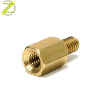 CNC Turning Lathe Special Fasteners Brass Hex Head Bolt