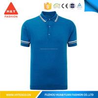 Blue and white OEM different color collar polo shirt new design polo t shirt