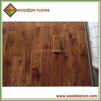 Commercial Handscraped Wheat Oak Solid Hardwood Flooring