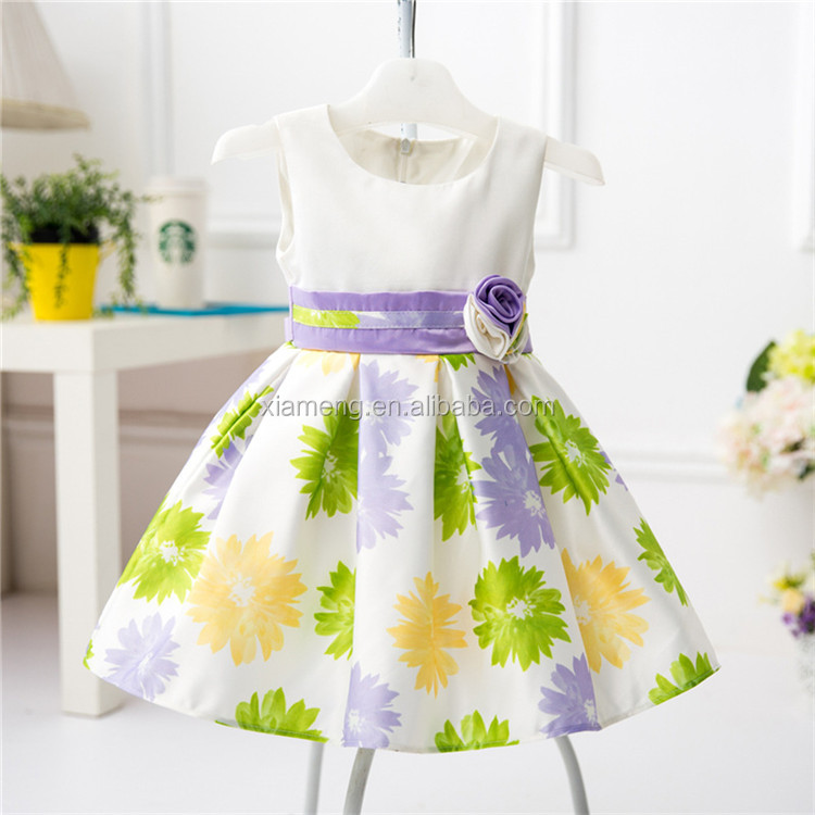 2016 Kids clothing factory new style baby cotton frocks designs for 6 years old girl