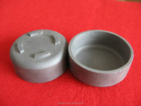 Refractory Reaction Sintered Silicon carbide ceramic crucible with cover used for kiln furniture