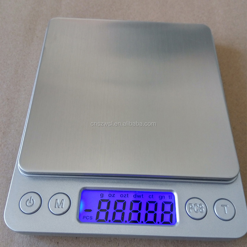 Best-seller 3KG/0.1g Cheaper Durable High Precision 2 In 1 Kitchen And Diamond Scale