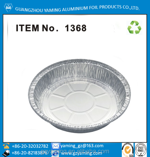 packaging boxes food use serving tray 8 inch round aluminium foil container