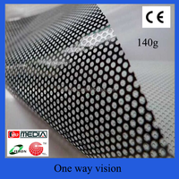 Cheap price one way vision film for window sticker / perforated vinyl sticker / micro perforado vinyl