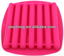 stripe shaped silicone chocolate lolly mould