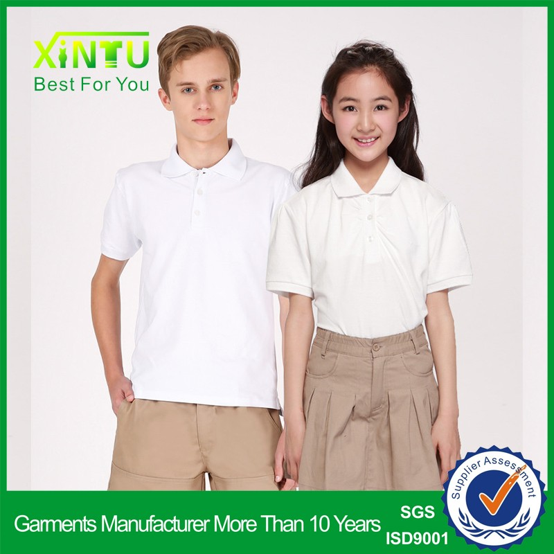 High quality polo shirt&shorts primary school uniform design