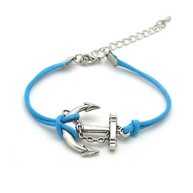 Customized design cheap buckle anchor rope bracelet
