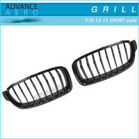FOR 2012-2013 BMW 3 SERIES F30 SPORT STYLE BLACK CHROME ABS FRONT HOOD GRILL GRILLE