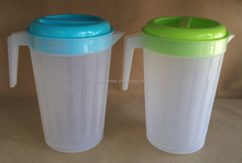 Plastic water pitcher with lid and handle 4L Water jug 4L juice jug #TG20550