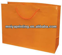 big paper shopping bags add 350gsm corrugated cardboard in basement to reinforced with good quality handles bag