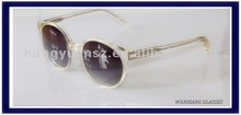Clear sunglasses with printing lens