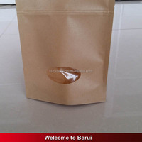kraft paper bag with window for tea,nut