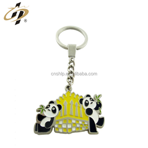 Cheap custom made animal shape metal souvenir keychains