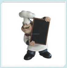 Fat Chef With Cooking Menu Poly Resin Blackboards