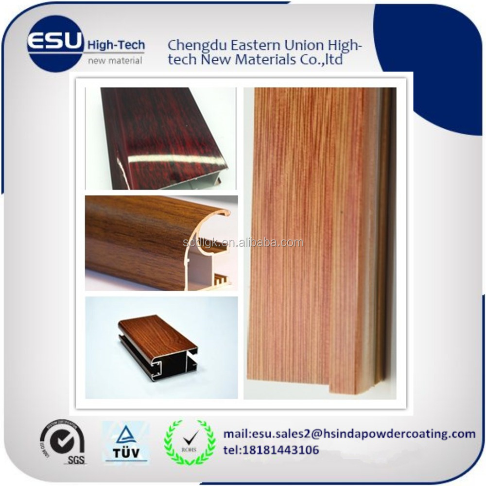 aluminium wood grain finish powder coating