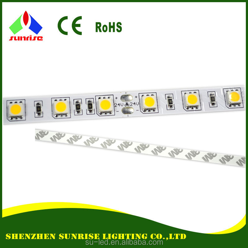 High brightness SMD 5050 60pcs flixible led strip light IP65