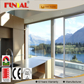Customized commercial aluminum curved sliding door with double glass in guangdong factory