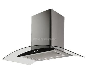 Curve Glass grease filter kitchen range Extractor Hood
