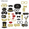 32 pack glitter paper photo booth props