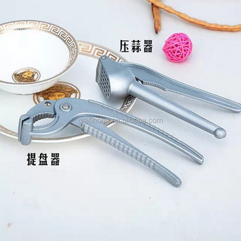 Stainless Steel Garlic Press Rocker Garlic Crusher Squeezer Slicer