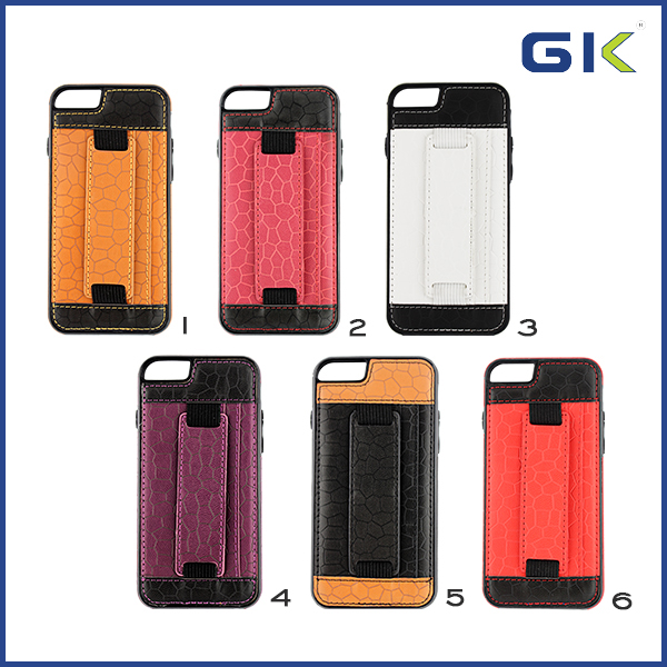 [GGIT] Hand Strap Holster With Card Slot TPU+PU Phone Case For IPhone 6 Flip Cover