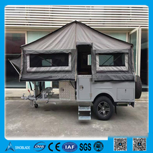 Outdoor Camping Foldable Car Roof Top Tent Traveling RV Trailer House